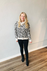 Off White Leopard Sweater