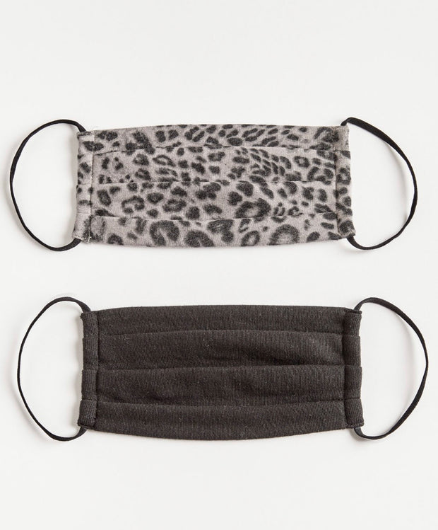 Grey Leopard Reusable Face Mask (2 pack)