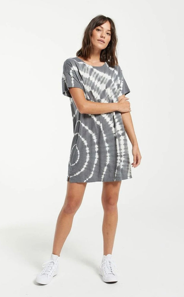 Launa Swirl Tie-Dye Dress