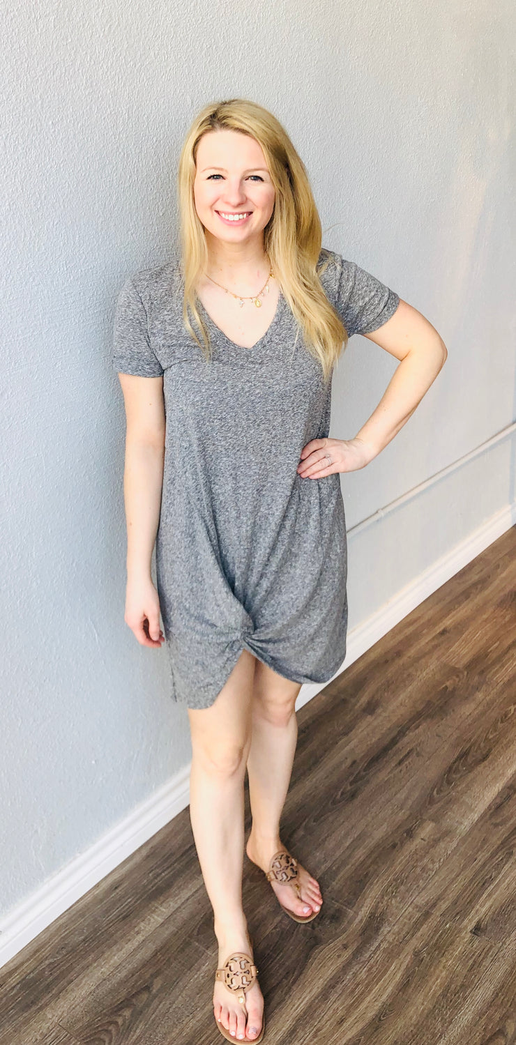 Washed Black Knot Dress