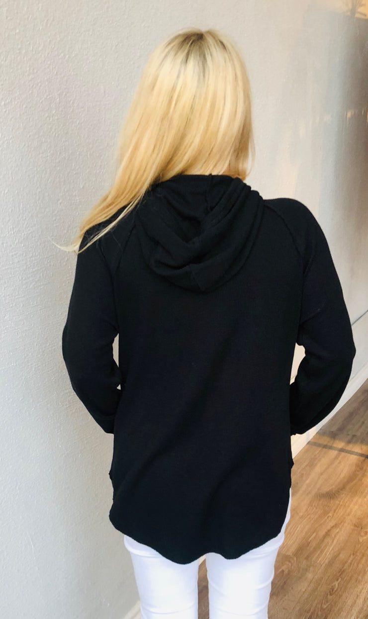 Black Thermal Hooded Tunic