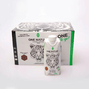 Proteína orgánica One Nature bebible de Chocolate (12 piezas) - One Nature Organic