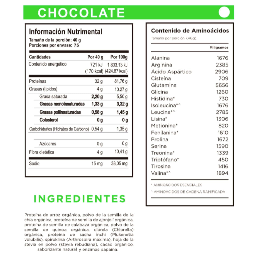 Proteína orgánica One Nature Vainilla, Chocolate, Mocha – 3kg - One Nature Organic