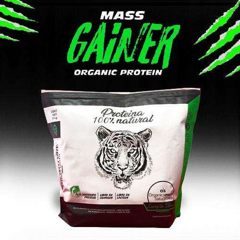 Proteína orgánica One Nature, MASS GAINER 3 Kg. (150 porciones) - One Nature Organic