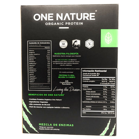 Proteína orgánica One Nature Mass Gainer – 1.12 kilogramos - One Nature Organic