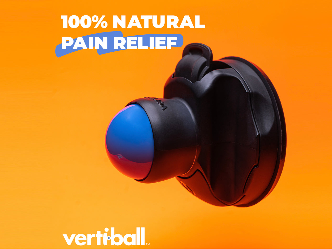 Vertiball Muscle Massager with patented mount technology