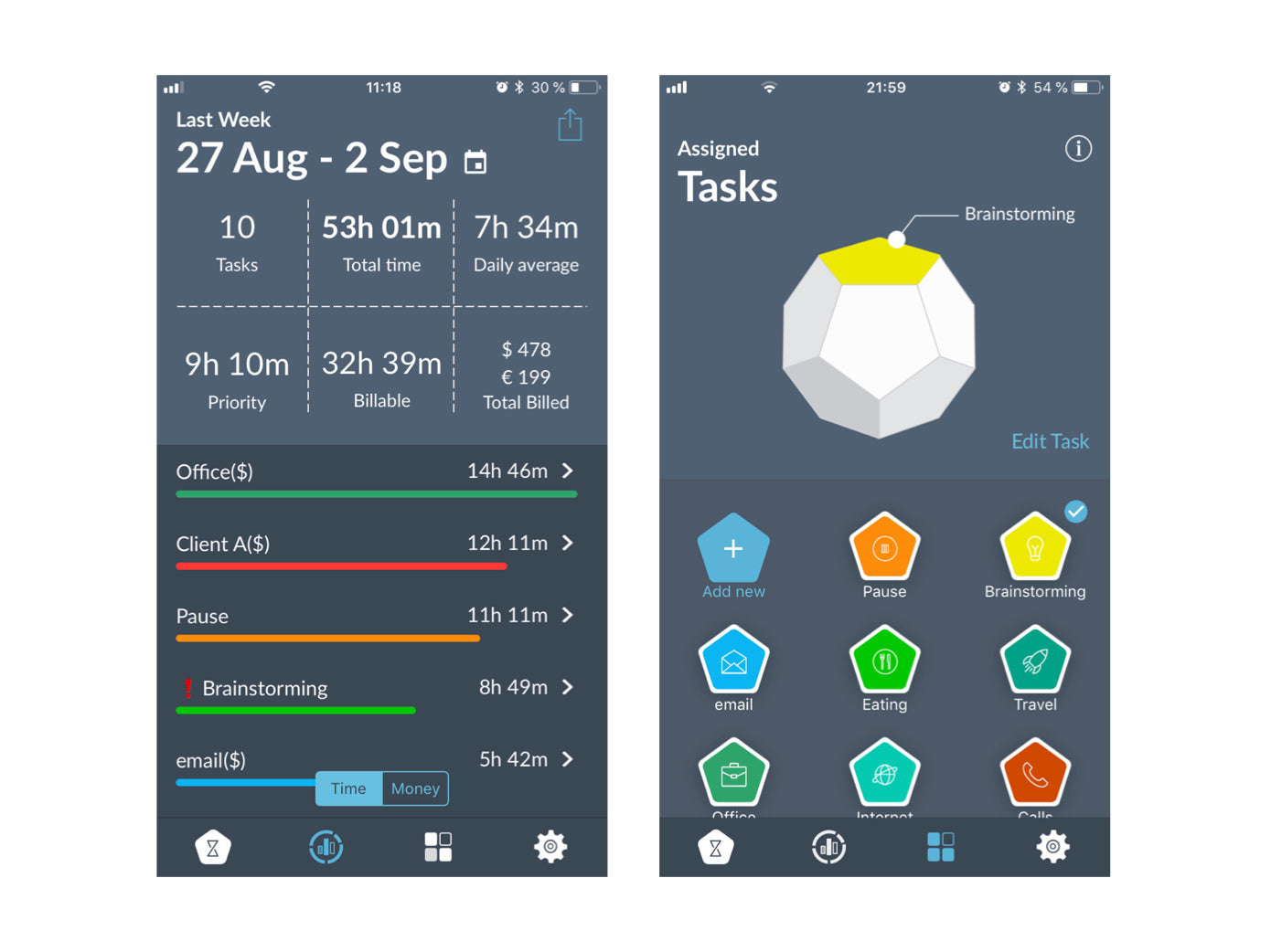 TimeFlip Simple Time & Productivity Tracking