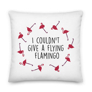 Flying Flamingo Premium Pillow