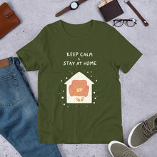 Load image into Gallery viewer, Keep Calm and Stay at Home Unisex T-Shirt