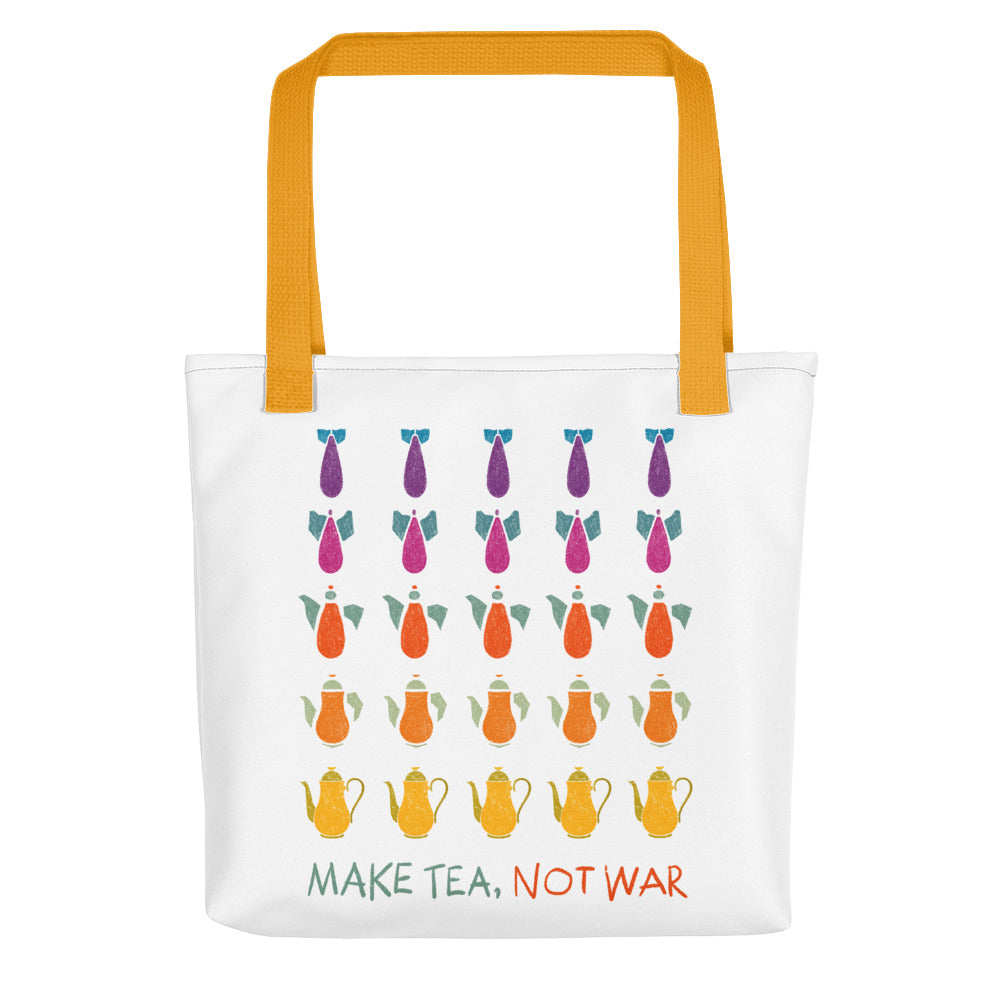 Make Tea Not War Tote bag