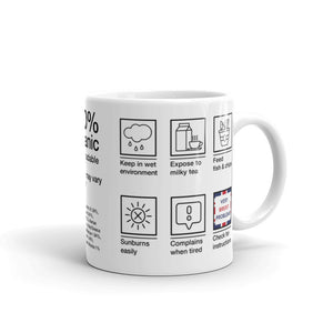 British Care Instructions Mug