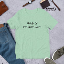 Load image into Gallery viewer, Proud of My Girly Swot Unisex T-Shirt
