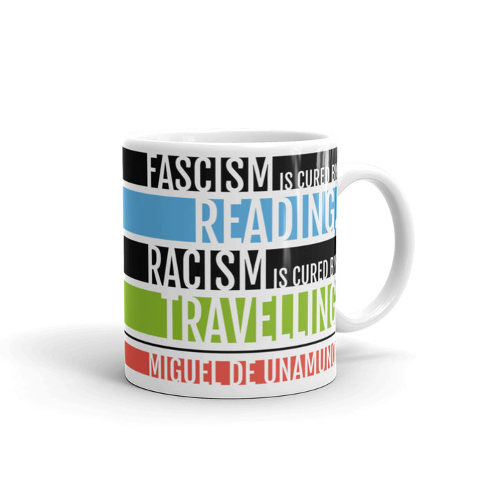 Fascism is Cured by Reading Mug