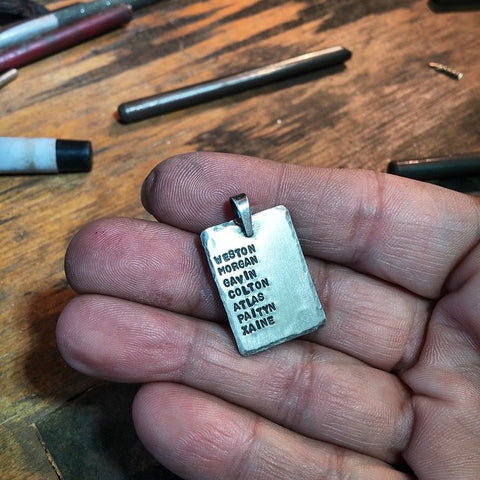Mom's Personalized Sterling Silver Pendant