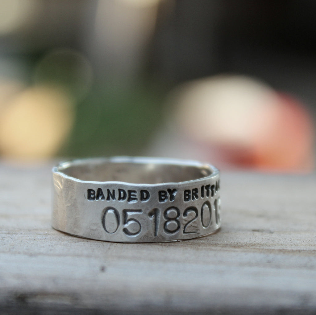 narrow duck band wedding ring for men and women unisex personalized - Duck Band Wedding Rings