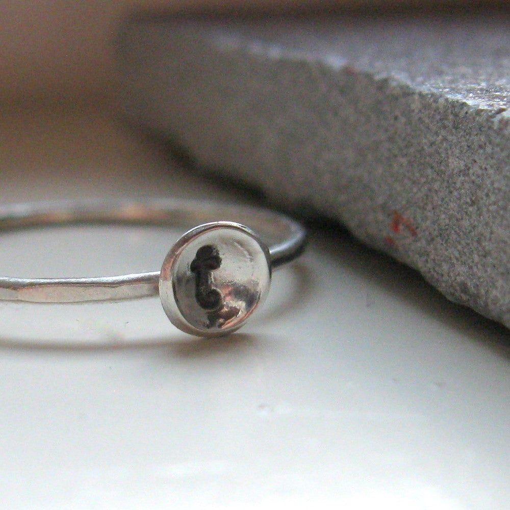 Rustic stacking initial ring
