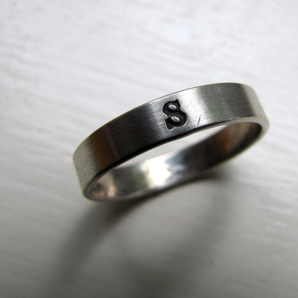 Personalized Monogram Band Ring
