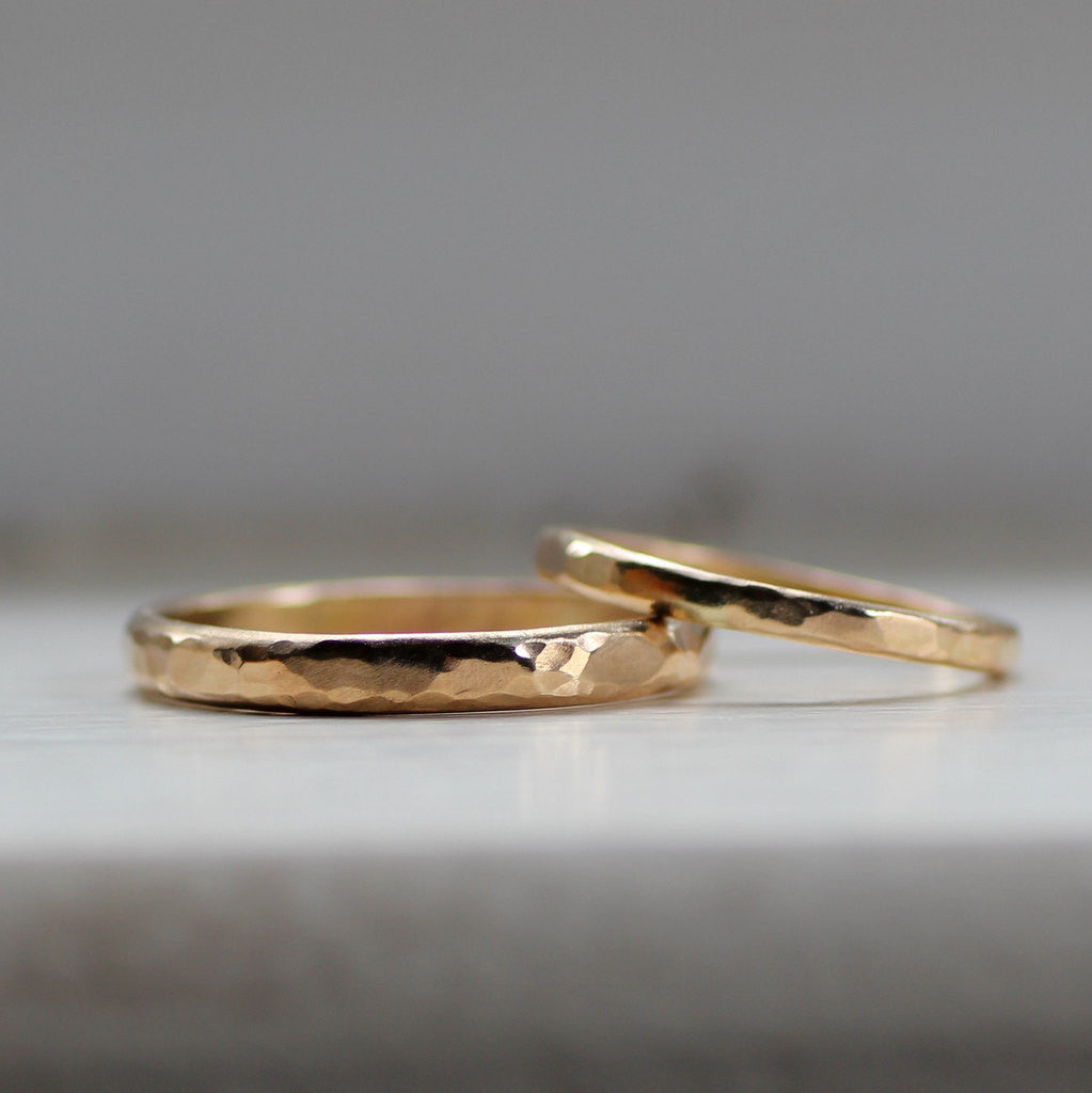 simple wedding band set rustic gold wedding bands for men or women - Simple Wedding Ring