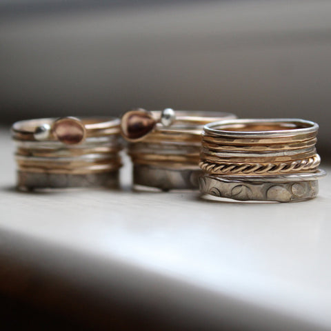 Stacking Rings   Gold And Silver