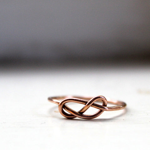 14k Gold Infinity Ring Knot Ring Solid Gold
