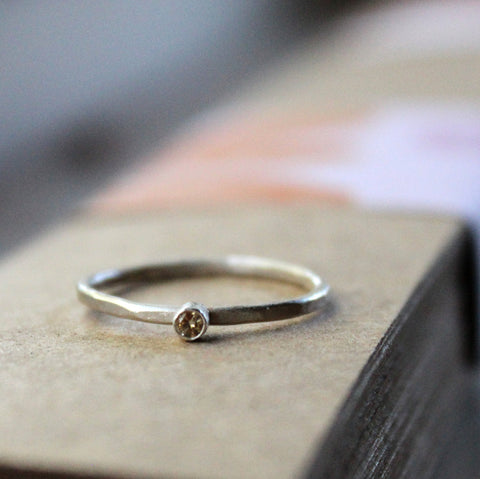 Rustic Diamond Stacking Ring
