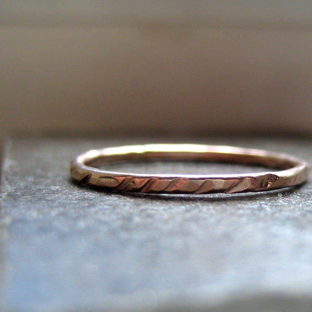 Stacking Ring of 14k Gold - recycled metal