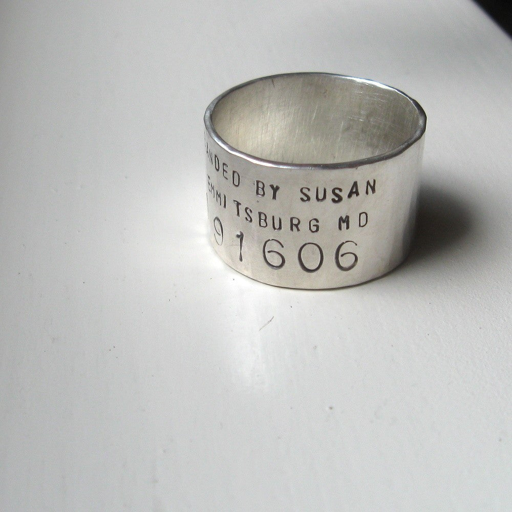 Unique Bird Band Ring  Personalized Wedding Ring