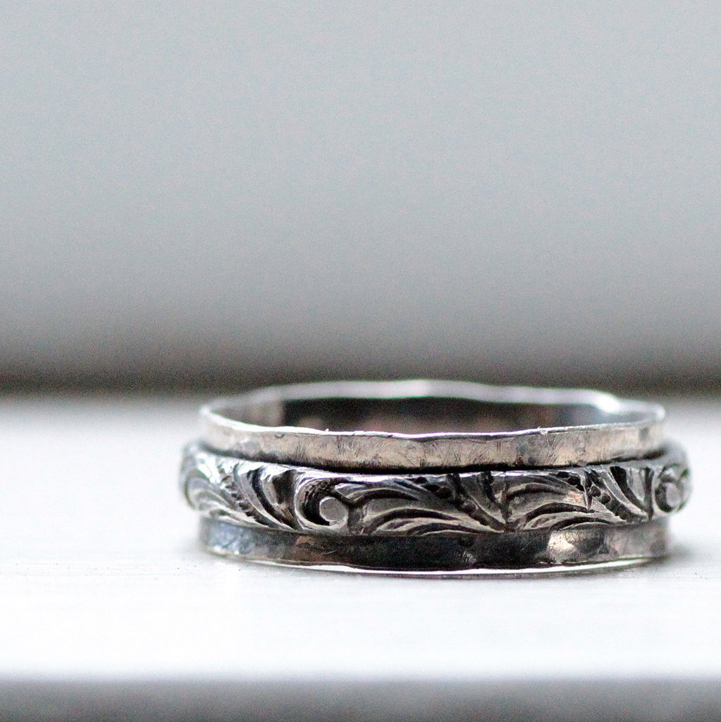 Rustic Sterling Renaissance Ring