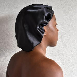 blx. Satin Bonnet - Black