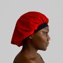 Load image into Gallery viewer, blx. Elastic Satin Bonnet - Red