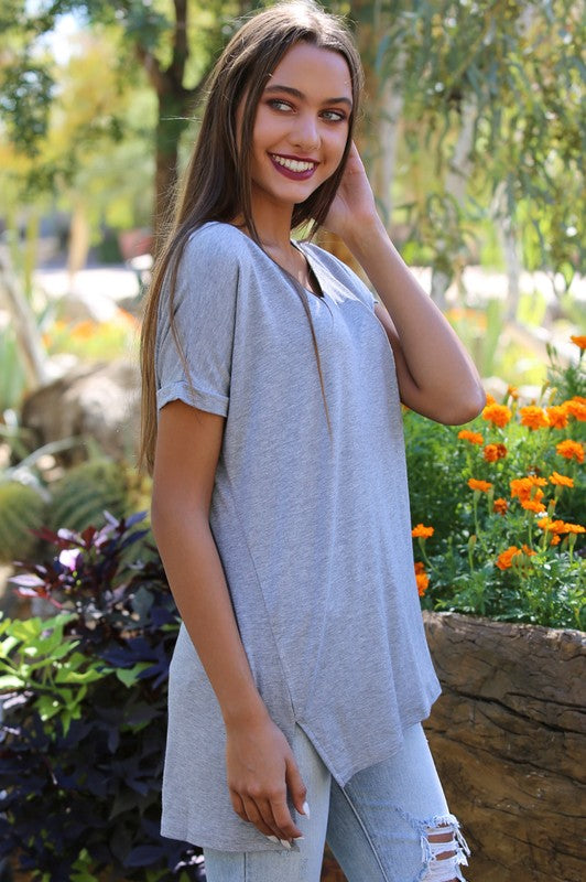 Oversized V-Neck Tunic
