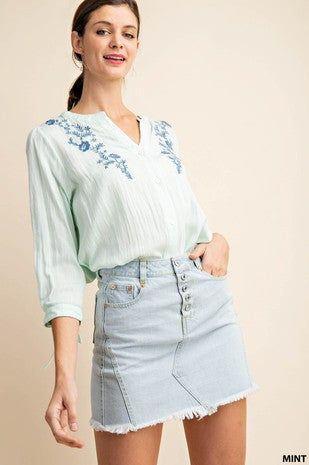 Mint Condition Embroidered Top
