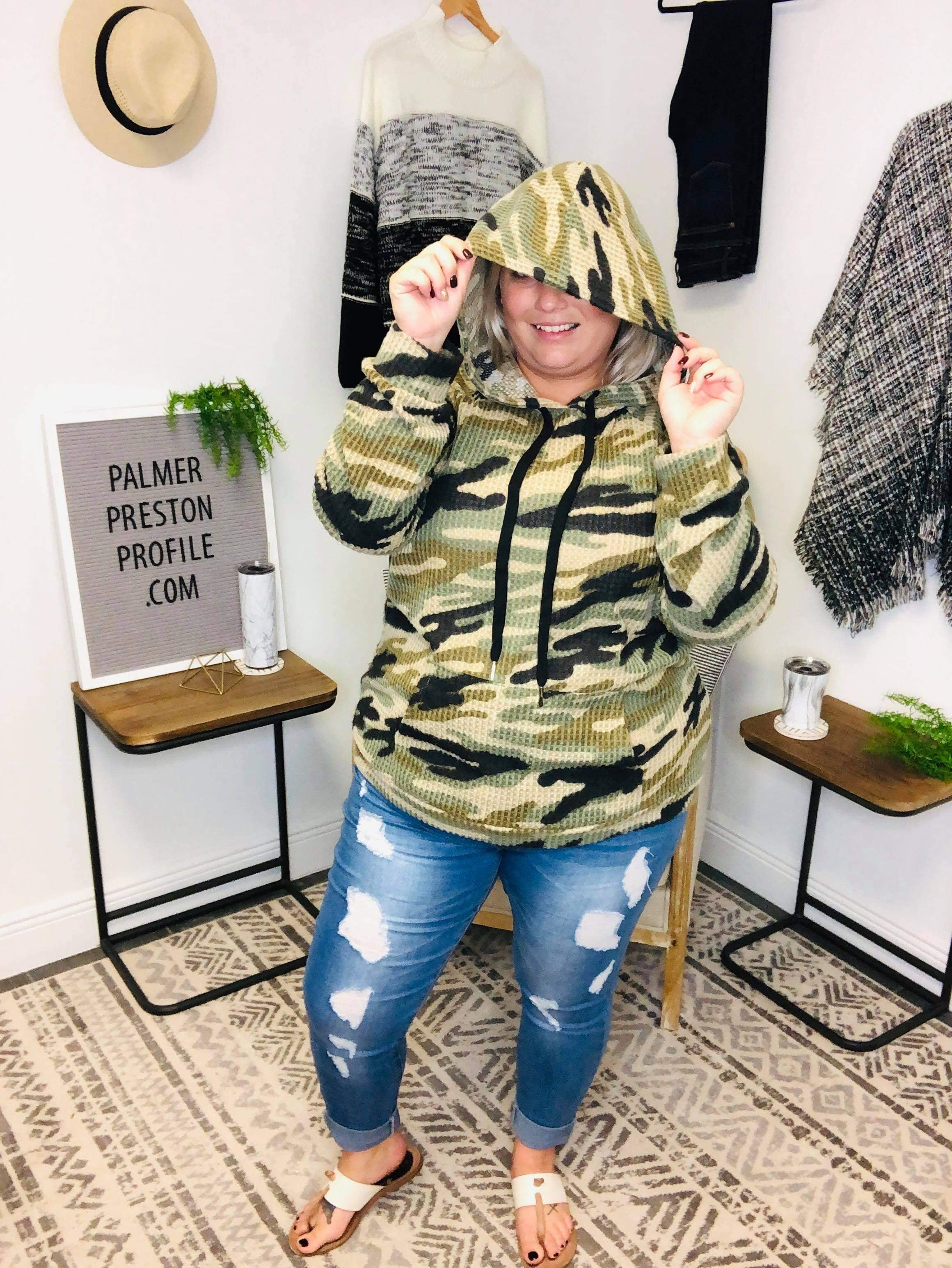 Searching For You Camo Hoodie