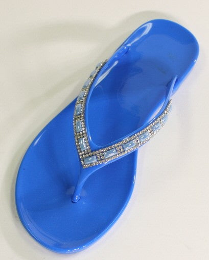 Final Sale Blue Crystal Jelly Sandals