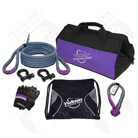 Yukon Recovery Gear Kit with 3/4″ Kinetic Rope Tow Strap