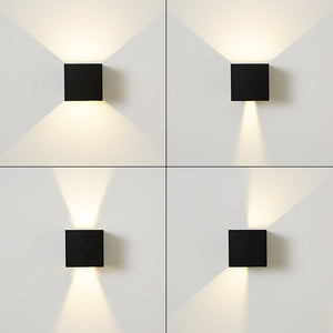 Lámpara de Cubo para La pared, Impermeable al Aire Libre LED