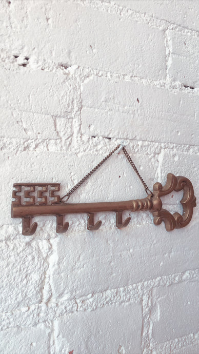 Ornate Brass Key Hook