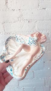 Vintage Lady Ashtray Catchall