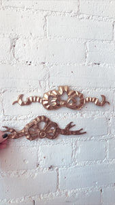 Vintage Brass Wall Bows