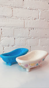 Vintage Ceramic Bathtub Soap Dish