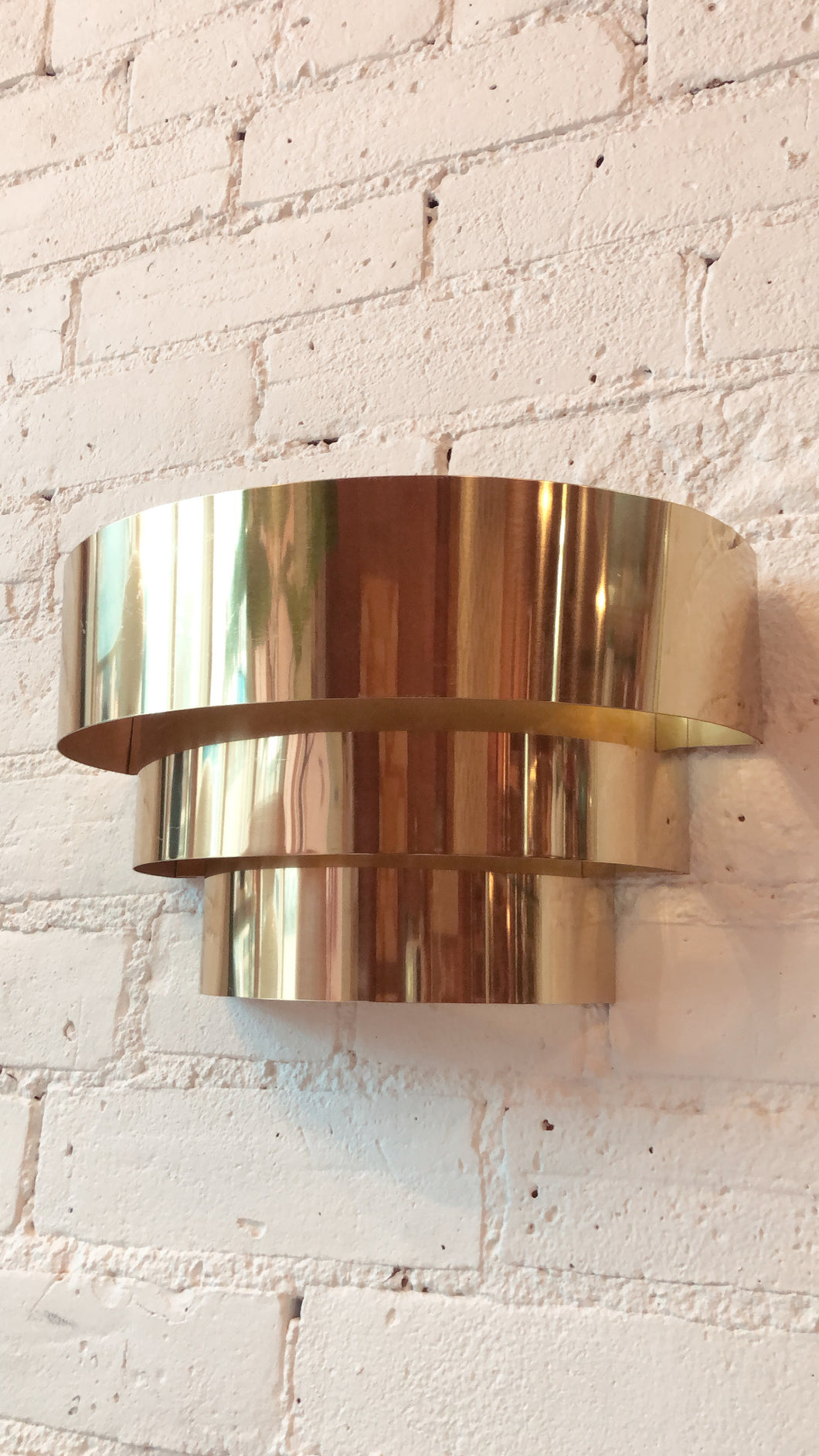 Vintage Brass Deco Sconces