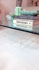 Vintage 1970's Lucite Coffee Table