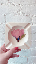 Vintage White Magnolia Moorcroft Ashtray