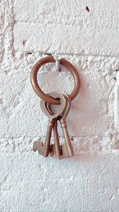 Vintage Brass Skeleton Keys