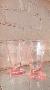 Pink Depression Glass Pair