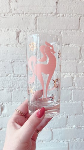 Mid Century Pink Pony Glasses