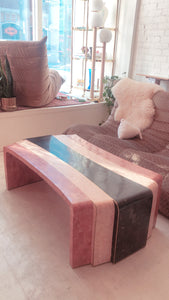 Art Deco Waterfall Marble Coffee Table
