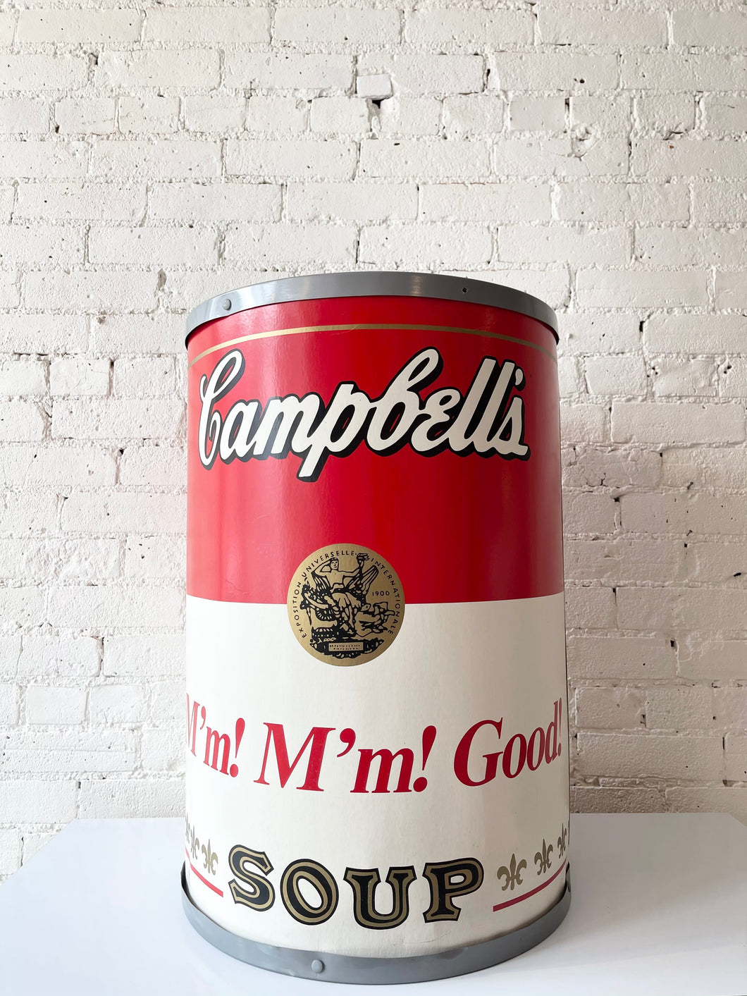 Vintage Campbell's Soup Can Display