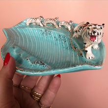 Vintage White Tiger Ashtray