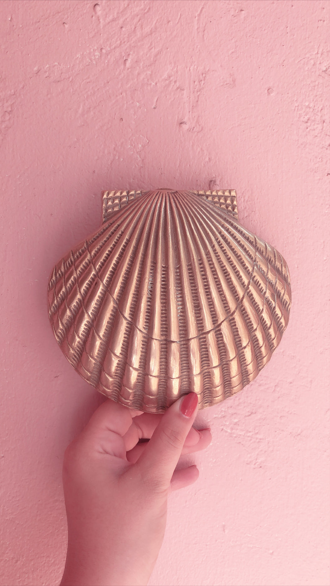Vintage Shell Brass Door Knocker